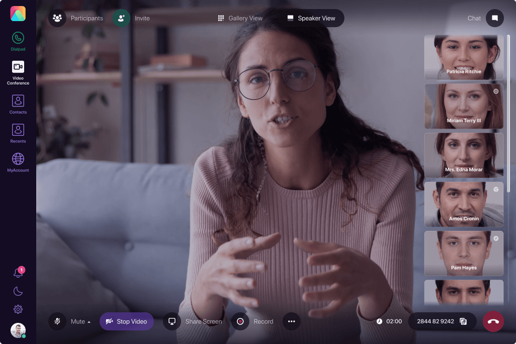 People using Acrobit's video conferencing app